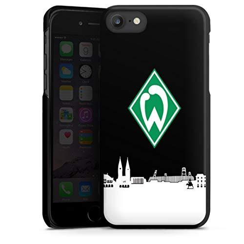 DeinDesign Hard Case kompatibel mit Apple iPhone SE (2020) Schutzhülle schwarz Smartphone Backcover Offizielles Lizenzprodukt Skyline SV Werder Bremen