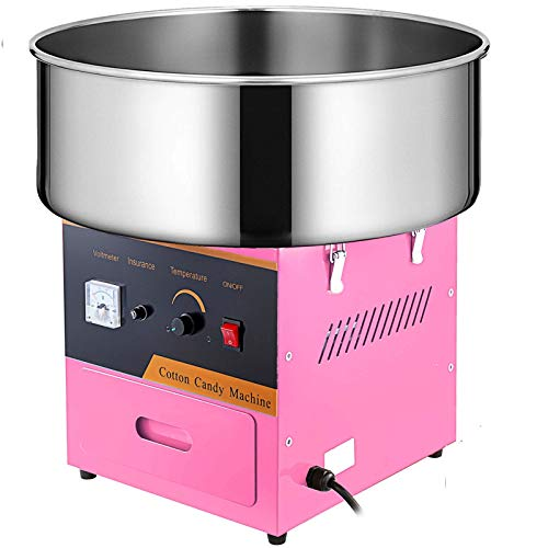 VEVOR Máquina para Hacer Algodón de Azúcar, Diámetro de 21