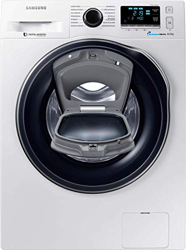 Samsung WW80K6404QW/EG Waschmaschine FL/A+++/116 kWh/Jahr/1400 UpM/8 kg/Add Wash/WiFi Smart...