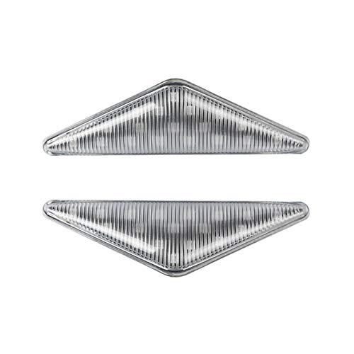 XIAOYAFANG Hxfang Lámpara de luz del Coche 1pair Marcador LED de la señal de Vuelta del indicador de luz de Flash for Ford Mondeo Mk1 Mk3 Transparente Hot Now (Color : Clear)