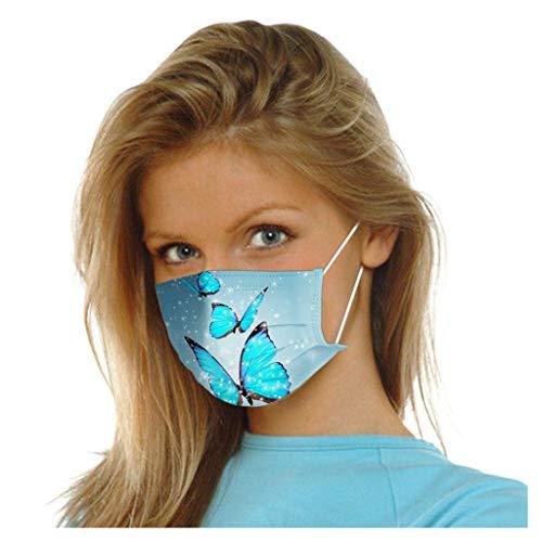 50 Stück Einmal-Mundschutz, Staubs-chutz Atmungsaktive Mundbedeckung, Erwachsene, Bandana Face-Mouth Cover Sommerschal (F)