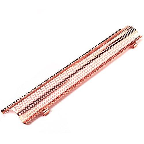 Kupfer Laubschutzgitter (2 Meter lang) für Dachrinnen Größe: 333mm gewölbtes Lochblech mit Halterung