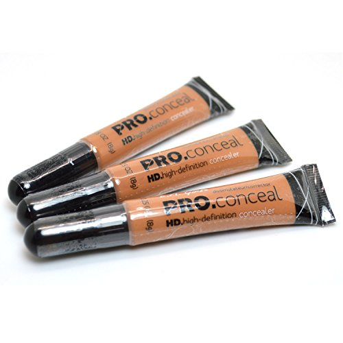 L.A. Girl Pro Concealer 3 x GC984 Toffee HD High Definition Liquid Conceal BB + FREE EARRING