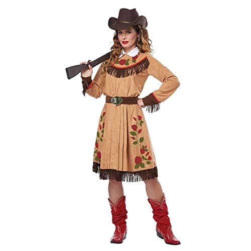 California Costumes Women's Cowgirl-Annie Oakley-Adult Costume, TAN, Large