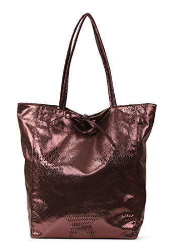 Emily & Noah Shopper Mona dames handtassen patroonmix bruin 200 One Size