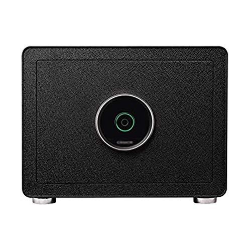 XTZJ Cassaforte elettronica con blocco delle impronte digitali per affari o domestiche □ Muro di ingresso biometrico o montaggio a pavimento per gioielli, contanti e altro ancora ( Color : Black )