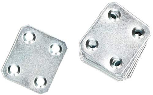 KOTARBAU Lochplatten 34 x 30 mm Verzinkt Silber Flachverbinder Holzverbinder Innen – Außenbereich Lochplatte Stahlverbinder Lochblech Flacheisen (25)