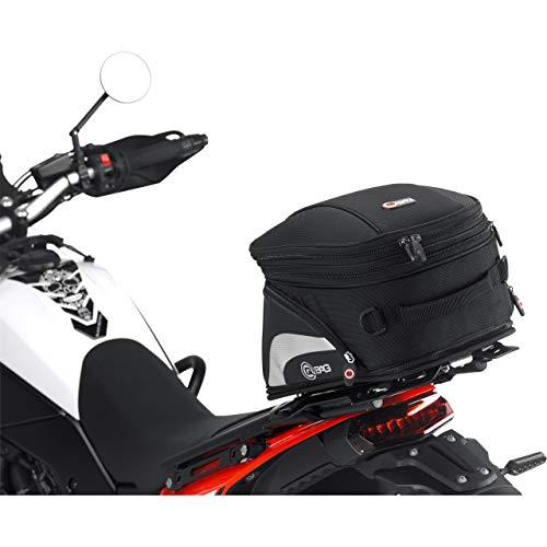 QBag Hecktasche Motorrad Motorradtasche Hecktasche ST07 abnehmbar 10-16 Liter Stauraum, Unisex, Multipurpose, Sommer, Nylon, schwarz