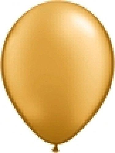 50 MINI Metallic Ballons gold, ca. 13 cm