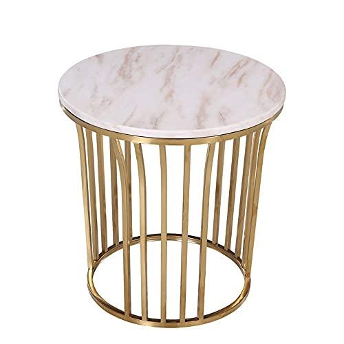 Möbler Soffbord, Nordisk stil Marmor Sidobord Hörnbord Sängbord Planteringsställ 50;55 CM (Färg: SVART) (Färg: Svart)