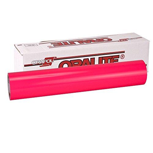 Oracal Fluorescent 6510 Neon Pink 1mx10cm, selbstklebende Autofolie mit Auffallgarantie