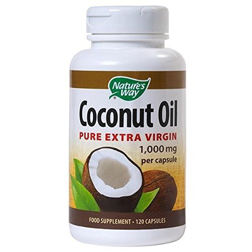 Nature's Way Pure Extra Virgin Coconut Oil Capsules 120 caps | 1,000mg per capsule | Made from non-GMO coconuts