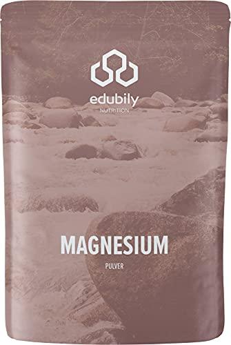 Magnesium-Pulver Mit Magnesiumglycinat, -Citrat & -Carbonat, Ohne Magnesiumstearat, Mit Vitamin B6 (P-5-P), Vegan (300 g Pulver)