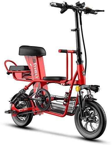 Haojie Bicicleta eléctrica Padre-niño Plegable Mini Coche