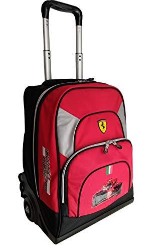 Mochila Trolley Premium Organizado Scuderia Ferrari Rojo