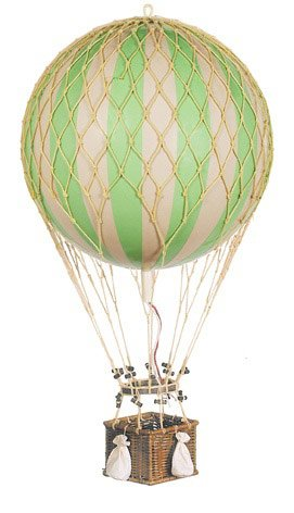For Sale! Authentic Models Jules Verne Balloon Hot Air Balloon Color: Green
