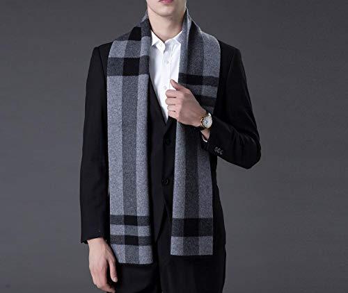100% pure wollen sjaal, mannen, winter, wilde plaid kraag, eenvoudig verjaardagscadeau