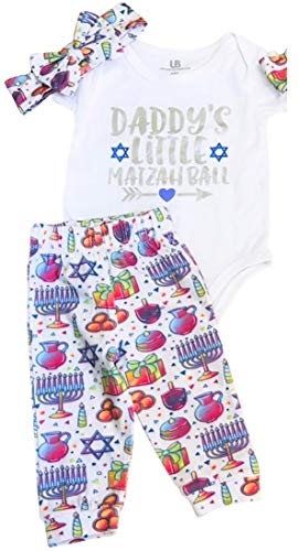 Unique Baby Girls Dads Matzah Ball Hannukah Onesie Outfit (12m, Dads)