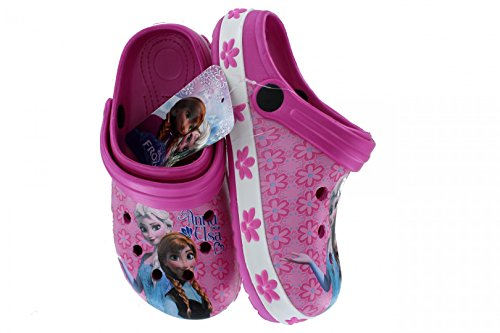 Disney Frozen Eiskönigin Clogs Hausschuhe Sandalen, div. Größen, Größe:32/33, Farbe:Rosa