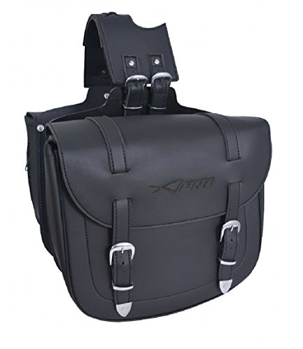 A-Pro Saddle Bag Motorcycle Motorbike Biker Panniers Bikers Cruiser Black