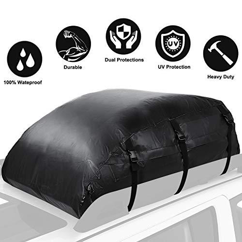 Coffre de toit de vhicule sac de toit voiture pour voyage rsistant aux intempries 560L