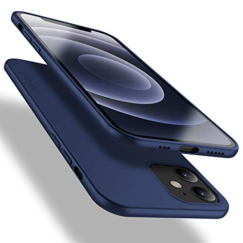 X-level für iPhone 12 Mini Hülle, [Guardian Serie] Soft Flex TPU Hülle Superdünn Handyhülle Silikon Bumper Cover Schutz Tasche Schale Schutzhülle Kompatibel mit Apple iPhone 12 Mini - Navy Blau