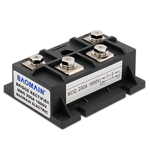 Baomain Bridge Rectifier MDQ-200A 200A 1600V Full Wave Diode Module Single Phase