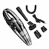 5.5Kpa high Power Handheld Vacuum Cordless Portable car Vacuum Cleaner Mini Hand held vacuums for pet Hair Wet Dry Vacuum dust Buster Small Couch Cleaner for Home with 2000mHa x 2 Battery