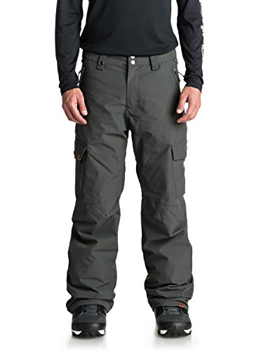 Quiksilver Men's Porter Shell 10k Snowboard Ski Pants, Dark Shadow, L