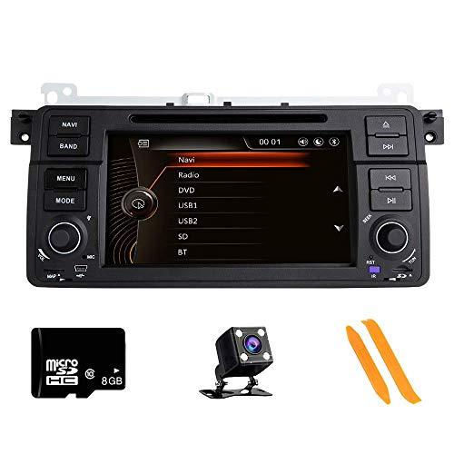 Autoradio Stereo per auto, compatibile con BMW E46 Rover 75 MG ZT 7 pollici HD Multi-Touch Autoradio GPS Radio Lettore DVD con scheda mappa gratuita Strumenti per la rimozione della telecamera poster