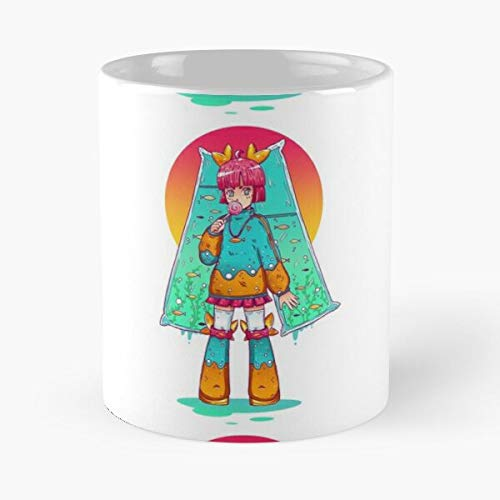 The Witcher 3 Cute Colorful Girl Fishes Funky Anime Kawaii Lolipop Best 11 oz Kaffeebecher - Nespresso Tassen Kaffee Motive
