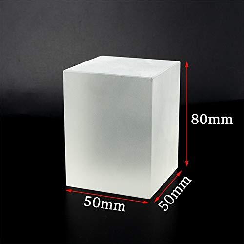 CROSYO 1 unid Helada K9 Cristal de Cristal Bola de Lente de Cristal Egipto Pirámide óptica Prism Cube Geometría Cílicar Coneo Papel Papel Papel Decoración de Hogar Lensball Globo (Color : Cuboid A)