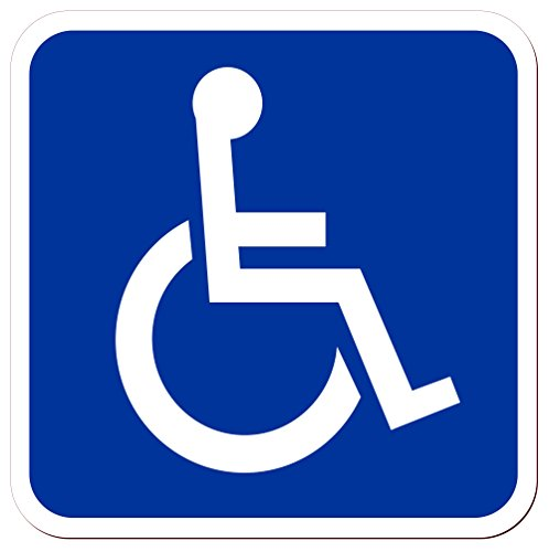 Lohofol Magnetschild Beförderung von Menschen mit Behinderungen | Schwerbehinderten-Transport Krankentransport Rollstuhlfahrer Rollstuhl | Schild magnetisch | Lieferbar in Drei Größen (15 x 15 cm)