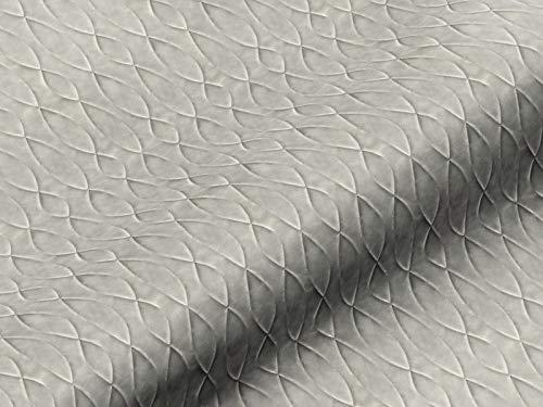 Dobladillo & Viebahn GmbH & Co. Telón tela, diseño abstracto, color gris, tela de alta calidad por metros, para cortinas, opaco