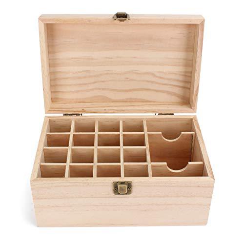 xingxing Storage & Organization - Caja de almacenamiento de aceites esenciales (19 ranuras)