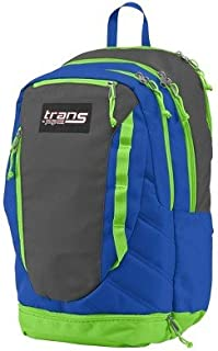 Trans JanSport Capacitor Backpack; Blue, Grey and Neon Green