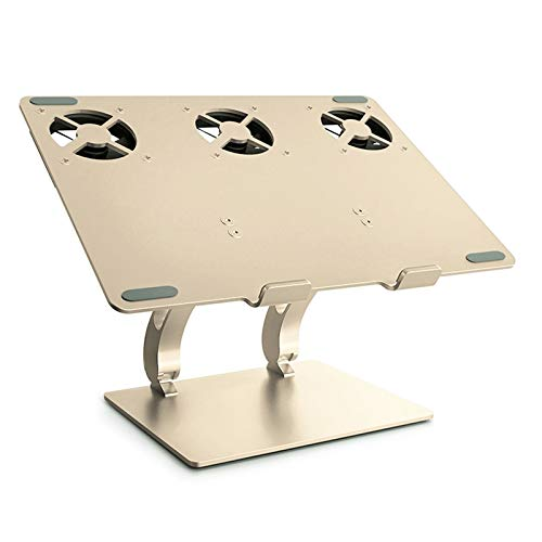 Recliner Foldable Laptop Stand Aluminum Cooling Notebook Riser with Non-slip Silicone Two-axis Free Adjustment Ergonomic Compatible with 11'' -17''