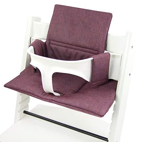 BambiniWelt zitkussen pad vervangkussen kussen zitkussenset stok overtrek voor tripp trap hoge stoel MELIERT (origineel) bordeaux gemêleerd ORG.