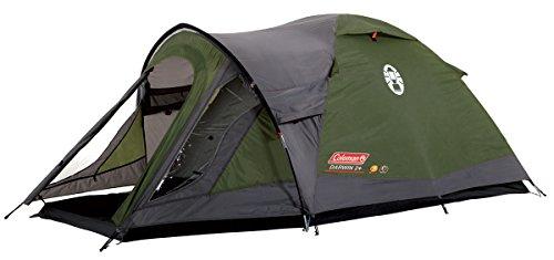 Coleman Darwin 2+ Zelt, 2 Personen, 2 Mann Zelt, Igluzelt, Festivalzelt, Leichtes Kuppelzelt mit Vorzelt, Wasserdicht WS 3.000 mm
