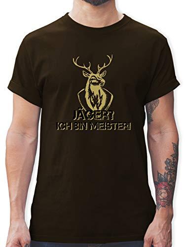 Après Ski - Jäger? Ich Bin Meister! - XXL - Braun - schwarzes Herren Tshirt - L190 - Tshirt Herren und Männer T-Shirts