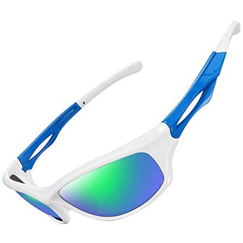 Joopin Gafas De Sol Deportivas Polarizadas Con Protección UV 400 Gafas De Ciclismo, Bicicleta Montaña Moto, Golf Y Deportes Al Aire Libre Para Hombres Y Mujeres Lente Con Espejo Verde