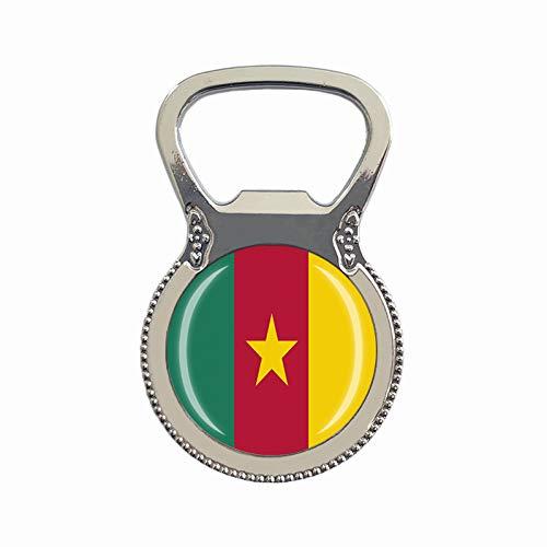 Flaschenöffner, Motiv: Kamerun-Flagge, Kühlschrankmagnet, Metall, Glas, Kristall, Reise-Souvenir, Geschenk, Heimdekoration