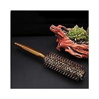 櫛 Fashian毛ラウンドブラシ静電気防止フェラドライヤー&カーリングウッドロールコーム髪のくし 木製の櫛 (Size : S)