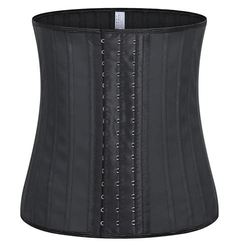 Shapewear Fajas Reductoras Mujer Ganchos Latex Corset Reductor Waist Trainer postnatales Deporte Lumbar S-6XL(Color:黑色,Size:XL)