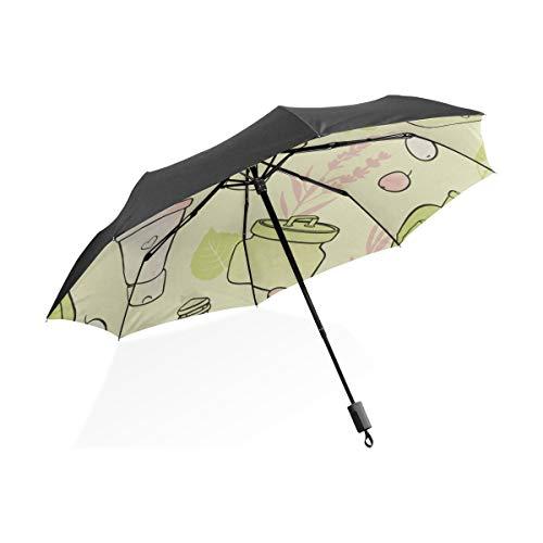El Mejor Paraguas invertido Necesidades diarias Champú Creativo Portátil Compacto Paraguas Plegable...