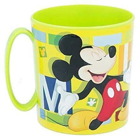 Disney Mickey Mouse - Taza para microondas (plástico, 350 ml)