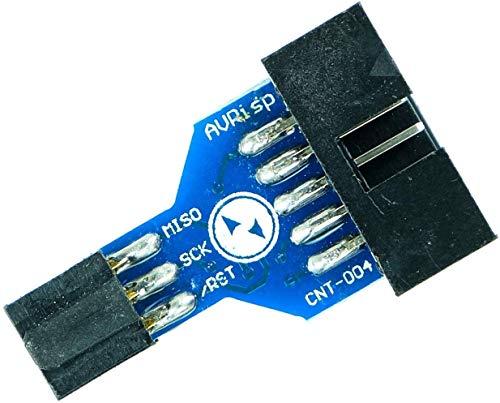 Paradisetronic.com ISP adapter, 10-pin to 6-pin, for e.g. Atmel AVR, Arduino, Bascom, USBasp, ICSP