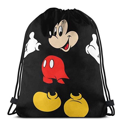 LREFON M-Ouse Classic Drawstring Bag Gym Mochila Hombre Mujer Sport Storage Bandolera