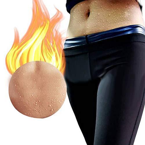 Agatige Pantalones Deportivos de Sauna para Mujeres, Leggings de compresión para Quemar Grasa, Moldeador de Cuerpo para Entrenamiento de Yoga, Gimnasio y pérdida de Peso posnatal(2XL/3XL)