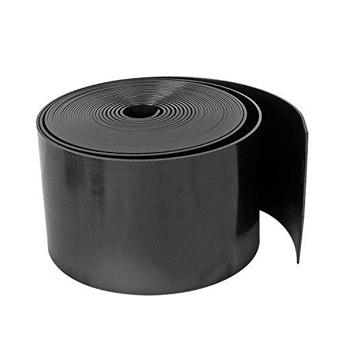Forever Speed Rasenkante PE Rolle Glatt Kunststoff Beeteinfassung Rasenbegrenzung Beetumrandung Schwarz 10m x 10cm(LxH)